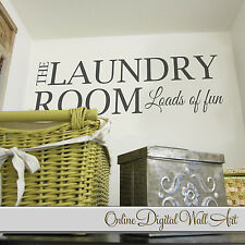 Laundry Washing Room Art Wall Quote Stickers, Wall Decals Words Lettering