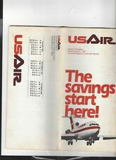 USAir airlines  June 1 1981  timetable