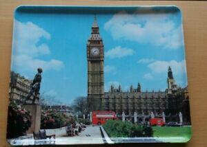 Vintage 1960's London Parliament Square souvenir trinket tray. Size 30 x 24cm
