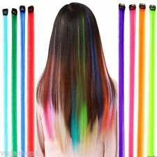 Fake Synthetic Hair Long Clip On Extension Iron Pins 12 Colors Party Hairdresser