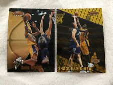 KOBE BRYANT 1998 & SHAQUILLE ONEAL 2000 BOWMANS BEST LAKERS BASKETBALL CARDS
