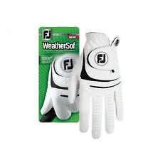 New FootJoy WeatherSof Men's White Golf Gloves - Select Size