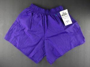 Vintage 1980's Body Wrapper Ripstop Nylon Dancing Dance Shorts Medium Purple
