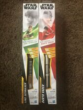 Star Wars Red And Green Electronic Light Sabers Luke Skywalker&Darth Vader 2pcs