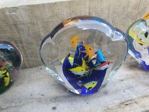 MURANO STYLE FISH AQUARIUM GLASS PAPERWEIGHT