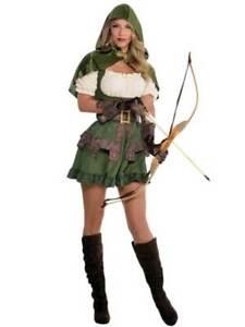 New w/Defects-Adult Ladies Robin Hood Peter Pan Fancy Dress Costume Womens