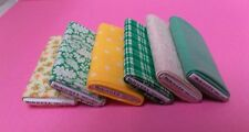 Dollhouse Mini Handcrafted tiny fabric bolts.sewing Made in USA 100% cotton 1:12