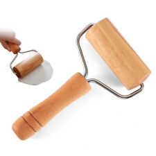 Handle Rolling Pin Push Dough Roller Pastry Cookie Pizza Baking Kitchen Tool