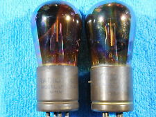 General Electric/ RCA Radiotron UV-201A RAINBOW BB/TT group of 2ea. used tubes