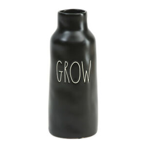 "NWT Rae Dunn by Magenta ""Grow"" Vase Black/White"