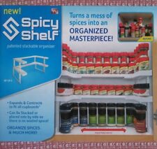 SPICY SHELF- Patented Stackable Organizer for Kitchen Cabinets> NEW. Ships USA