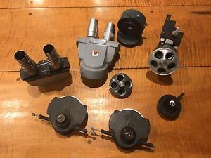 Lot Of SPENCER AO UNITRON Bi-9387 B&L Binocular Microscope Head Nosepiece Parts