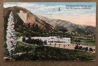 Vintage Postcard Arrowhead Hot Spring Near San Bernardino,Ca. Postmarked 1916
