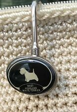 West Highland White Terrier Dog Resin Metal Charm Purse/Backpack Key Ring