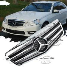FRONT BLACK CHROME GRILL FOR MERCEDES W212 09-13 AMG LOOK 212031 E-CLASS