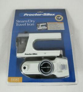 New Proctor Silex Steam Dry Travel Iron -10081- Dual Voltage & Travel Pouch