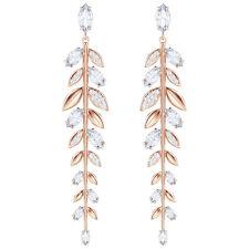 Swarovski 5410410 Mayfly Pierced Earrings Long, White, Rose Gold Plated, RRP$199
