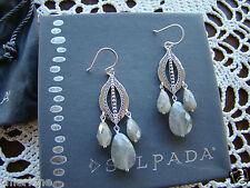 """Silpada Sterling Silver Labradorite """"Flora Earrings""""  W3288 NEW!"""