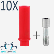 10x Anti Rotational Plastic Castable Abutment With Internal Hex Dental Implant