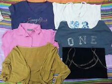 lotto 497 stock 6 pezzi maglie magliette canottiera canotta donna Tg.M