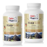 Maca Gold 570 mg 360 Kapseln 100% Extrakt & hochwertiges gelben Maca-Wurzel 4:1