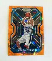 2020-21 Prizm Basketball Cole Anthony Orange Cracked Ice Rookie SP RARE | #292