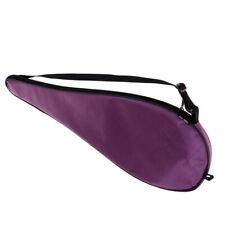 Waterproof Oxford Squash Racquet Cover Carry Bag w/ Adjustable Strap Purple