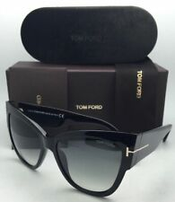 New TOM FORD Sunglasses ANOUSHKA TF 371 01B 57-16 Black Frames w/ Grey Gradient