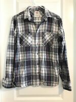 Levis Mens Shirt Size Small Blue Plaid Flannel Long Sleeve Button Up