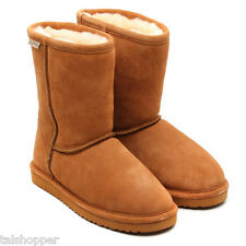 NEW 7 M BEARPAW EMMA Womens Sheepskin Boot Suede Hickory Winter Boots Great Gift