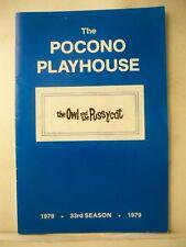 THE OWL & THE PUSSYCAT Playbill GARY BURGHOFF / LIVIA GENISE Pocono Playhse 1979