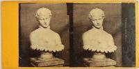 Tumphrey, Británica Museo Estatua Busto, Foto Estéreo Vintage Albúmina