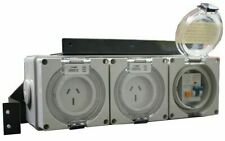 Gentech RCD IP56 GENERATOR PORT PROTECTION 15A 2-Outlets Suit Units Up To 3.5kVA