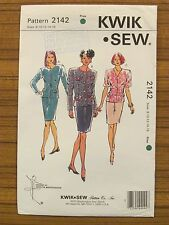 KWIK SEW PATTERN - 2142 LADIES SUIT JACKET SKIRT 8 10 12 14 16 UNCUT