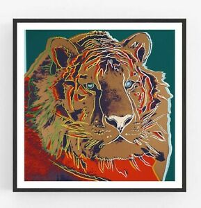 Andy Warhol - Tiger Giclee Print Poster Large Wall Pop Art Endangered Species