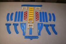 TOMY Track Bundle x 19, risers x 10 (high & low), red bridge - Thomas & friends
