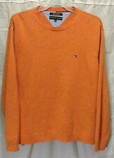 Tommy Hilfiger Crew Neck Pull Over Sweater Orange Size XL XLarge (A5)