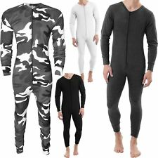 NEW MENS THERMAL ALL IN ONE UNDERWEAR SET BASELAYER ZIP SKI BODY JUMPSUITS S-XXL