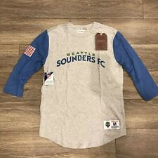 Mitchell & Ness Seattle Sounders 3/4 Sleeve Shirt Sz Large  Supreme Supersonics