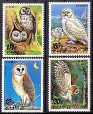 Owl, Birds of Prey, Korea 2005 MNH 4v