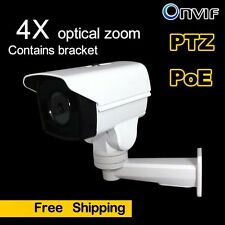 New 2MP Mini PTZ 4x Optics Zoom PoE IP Camera Outdoor IR IP66 1080P TF Card Slot