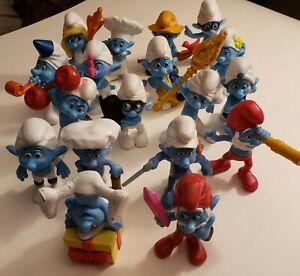 "McDonald's Smurf  2011 & 2013 Toy 3"" Figure Happy Meal Peyo - MacDonalds U Pick"