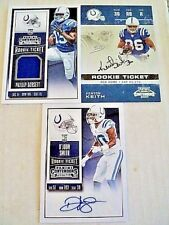 INDIANAPOLIS COLTS card lot x3    ALL AUTO & JERSEY LOT Dorsett Smith Keith