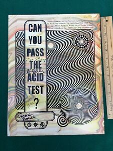 ACID TEST POSTER-Board Signed by KEN KESEY and the MERRY PRANKSTERS #87 COA