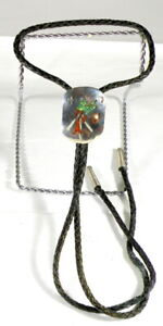 Vintage Sterling Silver Turquoise and Coral Bolo Tie