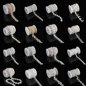 Fashion Crystal Rhinestone Trim Chain Sewing Craft Chain DIY Wedding Bridal Belt