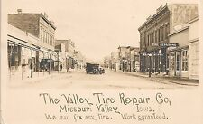 Valley Tire Repair Co. Missouri Valley IA RP Postcard