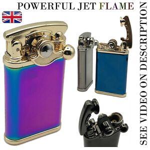 JOBON Windproof Luxury Cigar Jet Lighter Cool Butane Gas Blue Flame Torch Metal