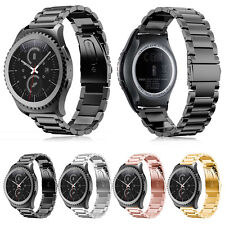 Folding Clasp Solid Stainless Steel Watch band Strap For Samsung Gear S2 Classic