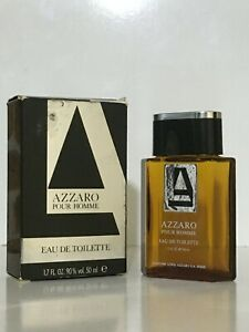 AZZARO POUR HOMME EDT 50ML SPLASH NEW FOR MEN RARE VINTAGE